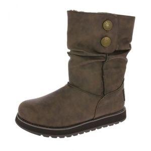 Skechers Keepsakes Mid Rise Brown Boot New
